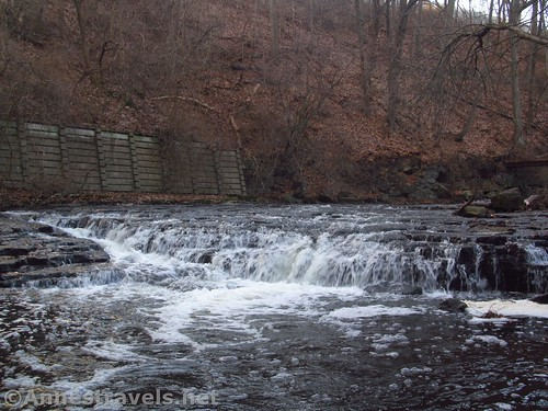 The middle of the three falls in Corbett's Glen, Penfield, New York