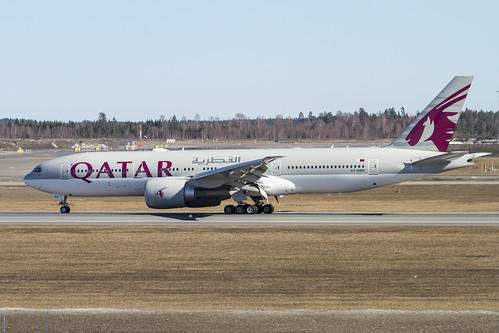 A7-BBB just landed on RWY 01L at OSL | by stein380 Thanks for over 9,7 million views!