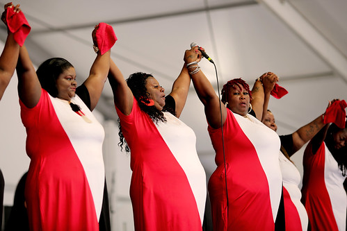 Anointed Jackson Sisters at Jazz Fest Day 8 - 5.5.19. Photo by Bill Sasser.