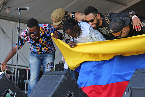 Tribu Baharu of Colombia  at Jazz Fest Day 8 - 5.5.19. Photo by Bill Sasser.
