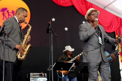 Tribute to Alvin Battiste  at Jazz Fest Day 8 - 5.5.19. Photo by Bill Sasser.