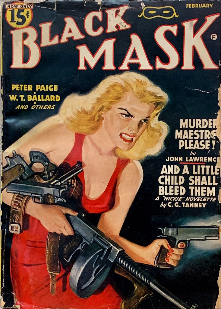Black Mask, Vol. 24, No. 10 (February 1942). Cover Art by Rafael De Soto.