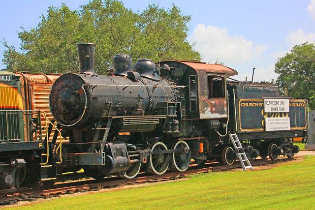 Former Fake Orange Blossom Special moved from Church Street Station, Orlando