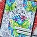 SSS Blossoms and Butterflies card #4 closeup