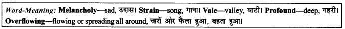 NCERT Solutions for Class 9 English Literature Chapter 8 The Solitary Reaper 4
