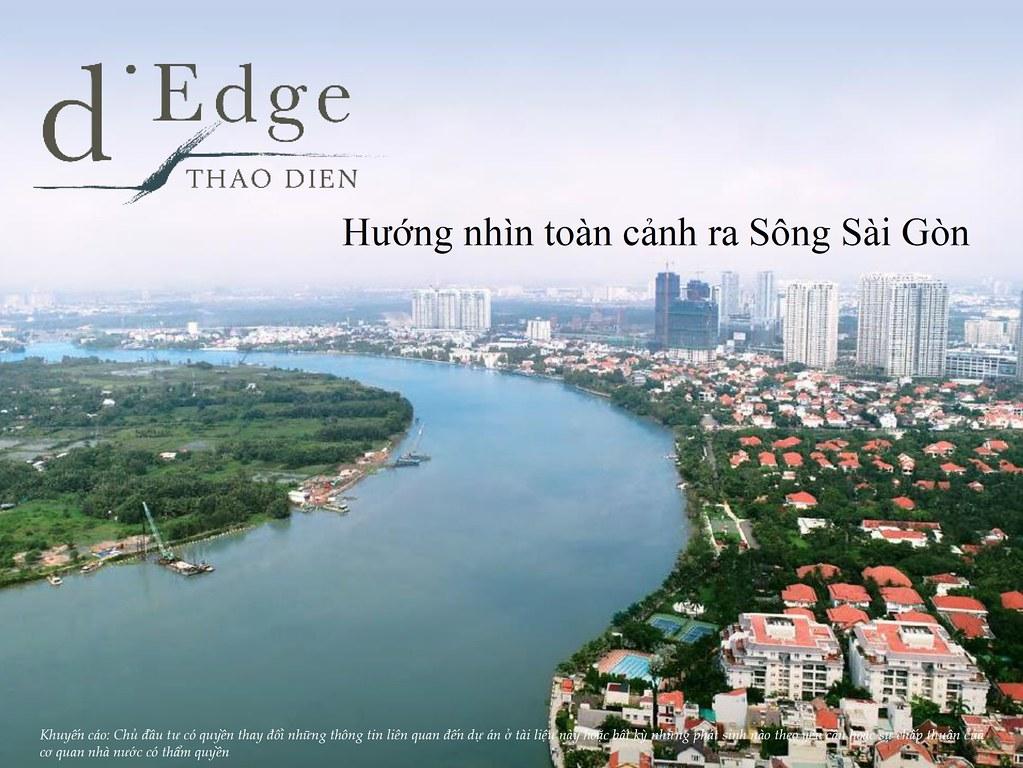 Hướng nhìn toàn cảnh ra sông Saigon