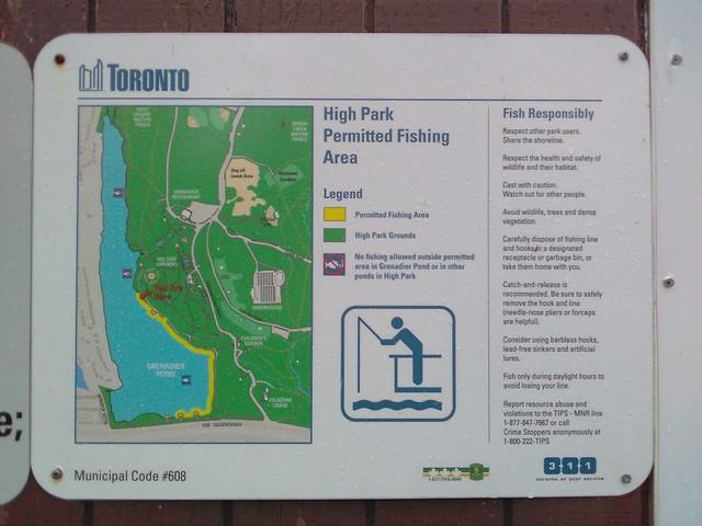 High Park Permitted Fishing Area #toronto #highpark #grenadierpond #maps #fishing #latergram
