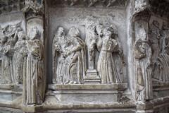 seven sacrament font: crucifixion