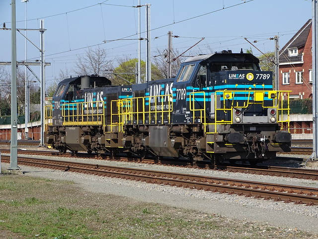 Lineas 7789 + 7784 at Venlo,the Netherlands , April 10,2019!