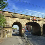 Mainline railway bridge with three arches