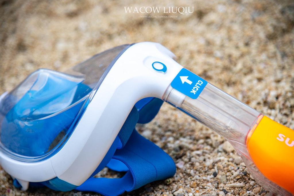 迪卡儂易呼吸潛水面罩推薦