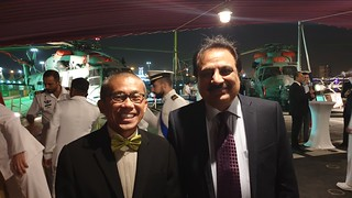 Wajid Junejo with CG Thailand MR. THATREE CHAUVACHATA at Italian Frigate docked at Karachi Port
