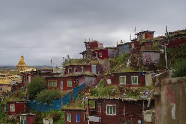 Monks housing at Yarchen Gar, Tibet 2018