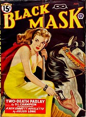 Black Mask, Vol. 28, No. 4 (July 1946).  Cover Art by Rafael De Soto.