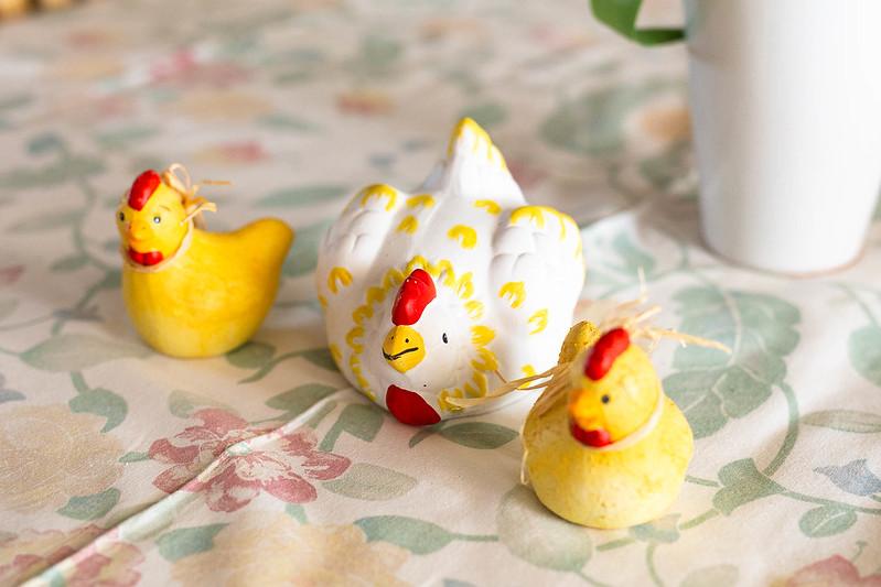 Påskhöna och kycklingar - Amoll.net