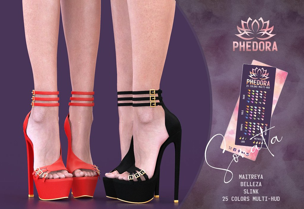 "Phedora.​ for FaMESHed X – ""Sonata"" heels♥"