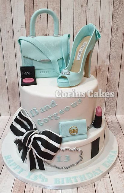 2 Tier Shoe and Handbag Cake by Corins Cakes Norwich