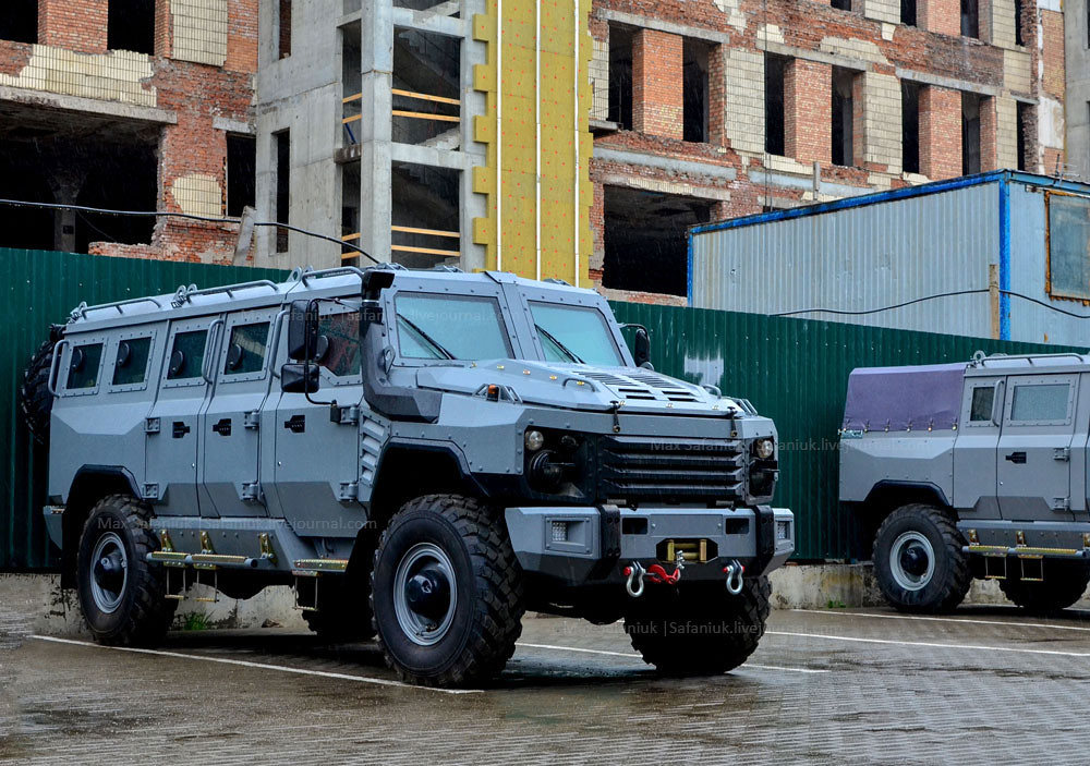 New Russian military armored car 4x4 `Buran` manufactured `Rida Holding`, made on the basis of GAZ-3308 `Sadko`