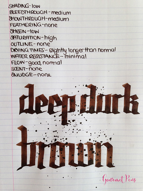 Cult Pens Diamine Deep Dark Brown Ink 6