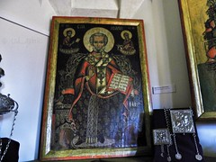 1773 icon of Saint Nicholas from Vâlcea county, Romania, exhibited in Nicolae Minovici Folk Art Museum, Bucharest