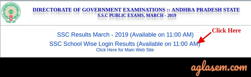 AP SSC School Wise Result 2019