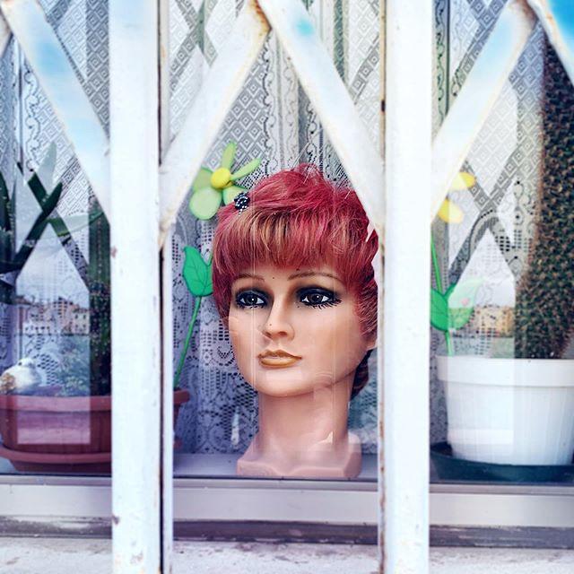 Trapped #head #dummy #window #venice #grandcanal