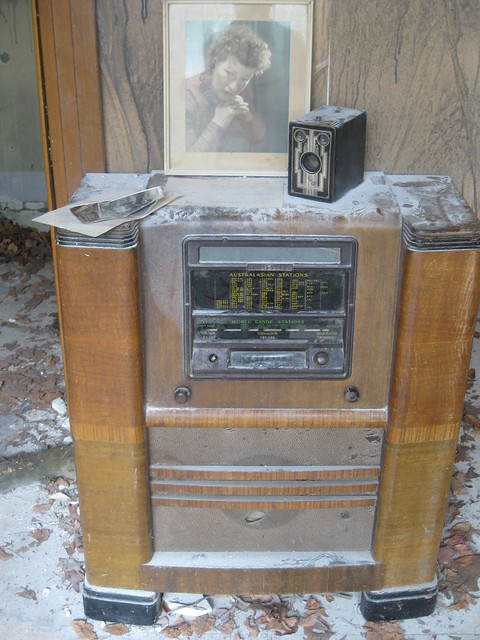 A Kriesler Radiogramme in His Room - Rone Empire Installation Exhibition; Burnham Beeches, Sherbrooke