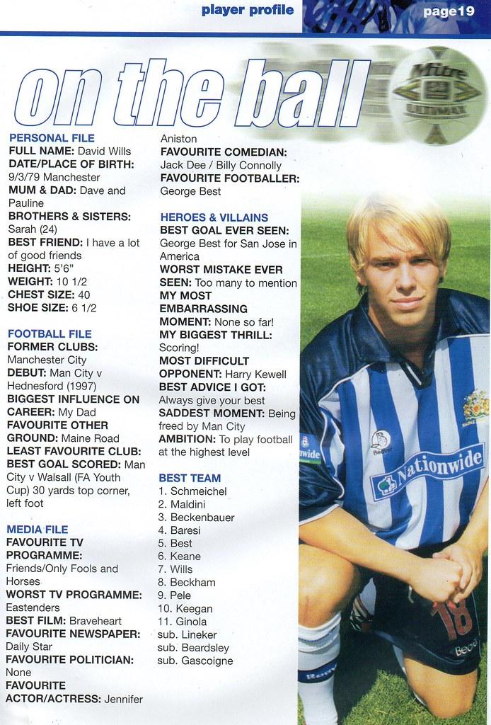 11-09-1999 Halifax Town 2-1 Brighton & Hove Albion 8 David Wills