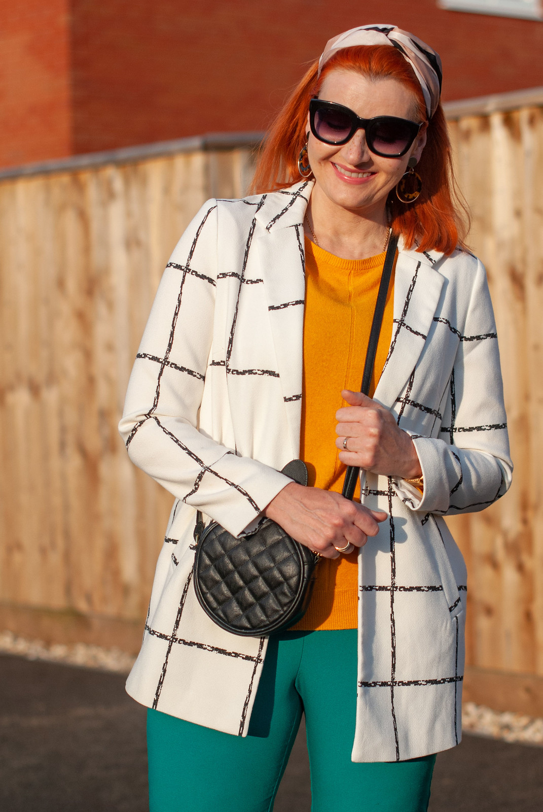 Fashion Over 40: Why You Should Try Orange, Green and White (and Marmite Shoes) | Not Dressed As Lamb, over 40 style blog
