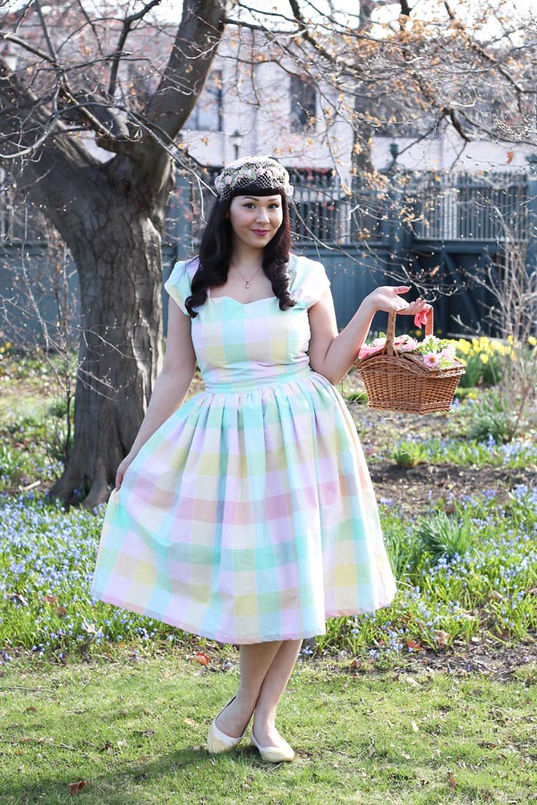pastel plaid dress