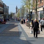 Shoppers dow Fishergate in Preston