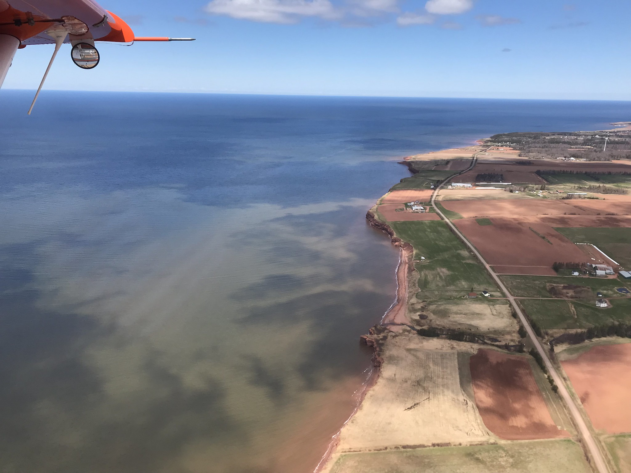 Red cliffs and fields of western Prince Edward Island. USFWS