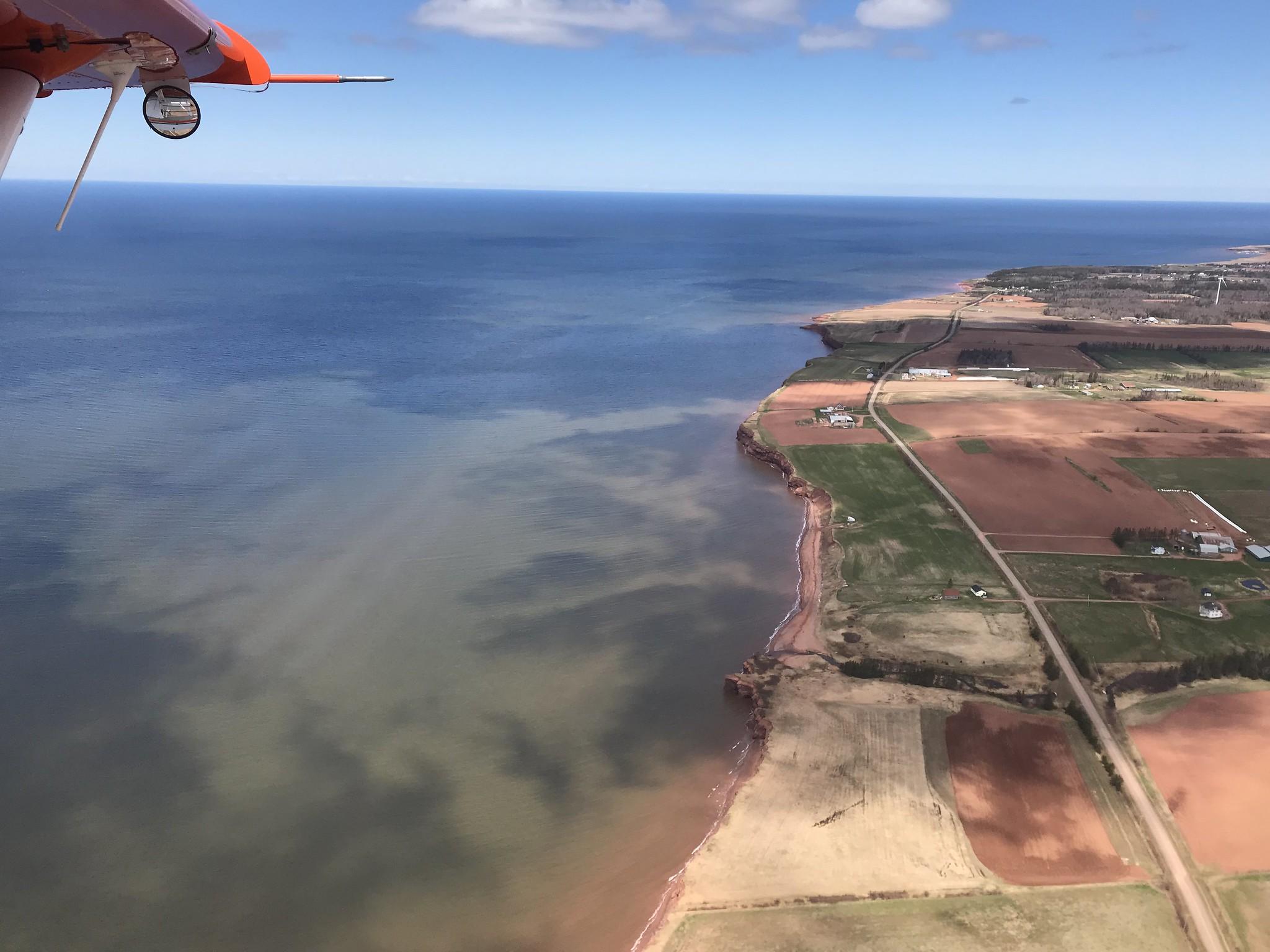 Red cliffs and fields of western Prince Edward Island. USFWS