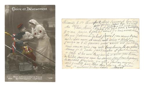 [Lettre de Francisque Servol à Marie, 1er février 1915, vue combinée]