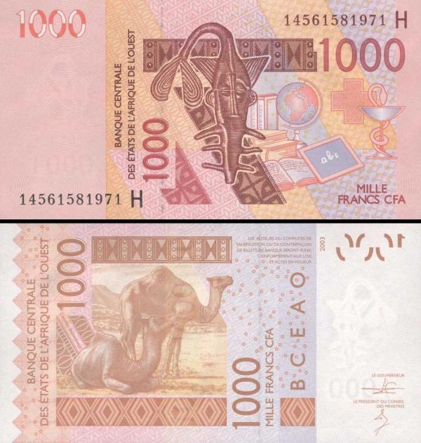 1000 Frankov Niger (WAS) 2019, P615H