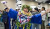 """""""I did it!&quot; (Photo credt: Shari Tamashiro) Kapiolani Community College celebrated spring commencement on Friday, May 10, 2019 at the Hawaii Convention Center. More photos: <a href=""""https://kapiolanicc.smugmug.com/Commencement/Commencement-2019"""" rel=""""noreferrer nofollow"""">kapiolanicc.smugmug.com/Commencement/Commencement-2019</a>"""