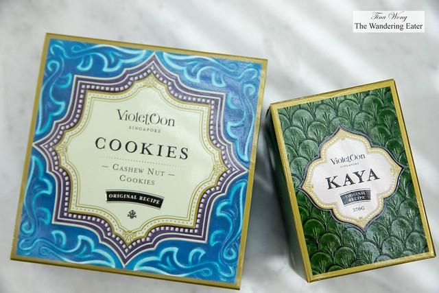 Cashew nut cookies and Kaya jam