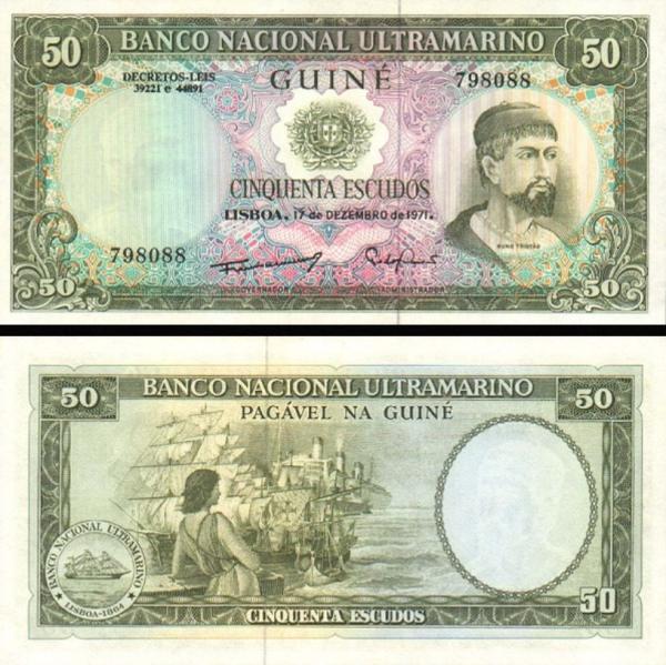 50 Escudos Portugalská Guinea 1971, P44