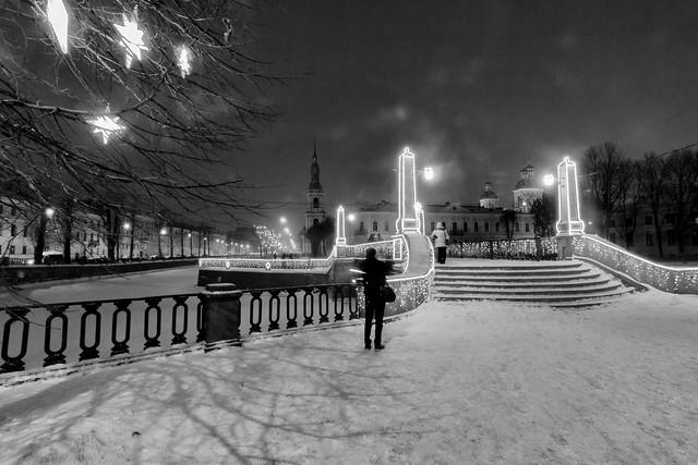 The Photo Session under a Snowfall - Фотосессия под снегопадом