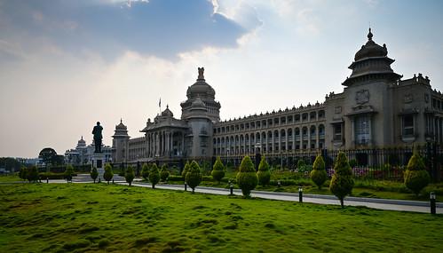 bangalore karnataka india vidhana soudha government capital capitol state assembly legislature building dome bengaluru