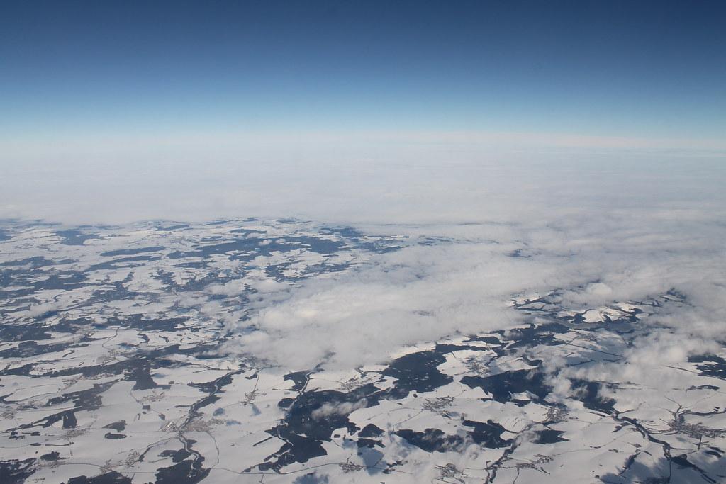 Snow covered Czech Republic