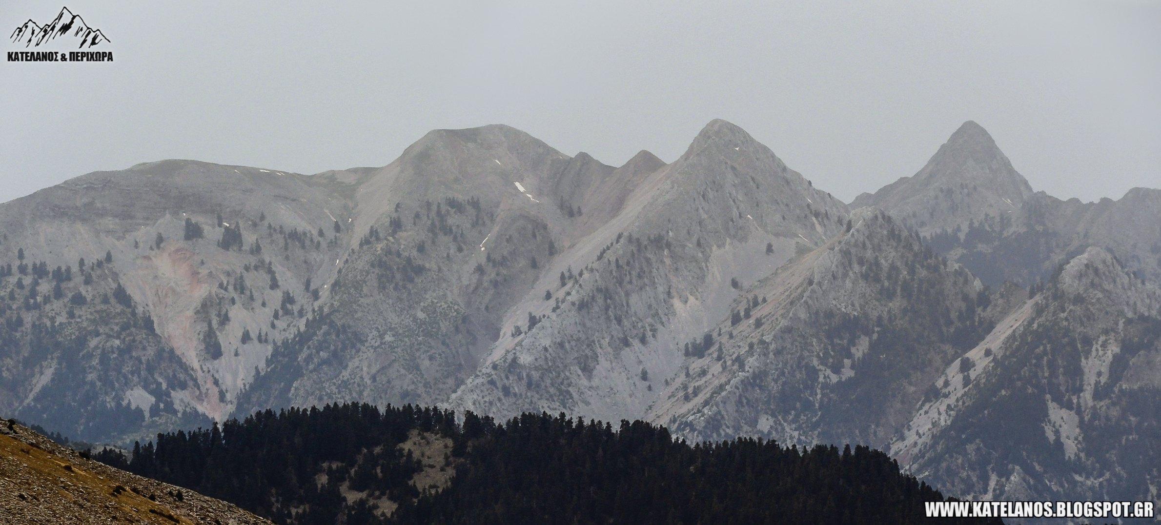 greek mountains pindus peaks