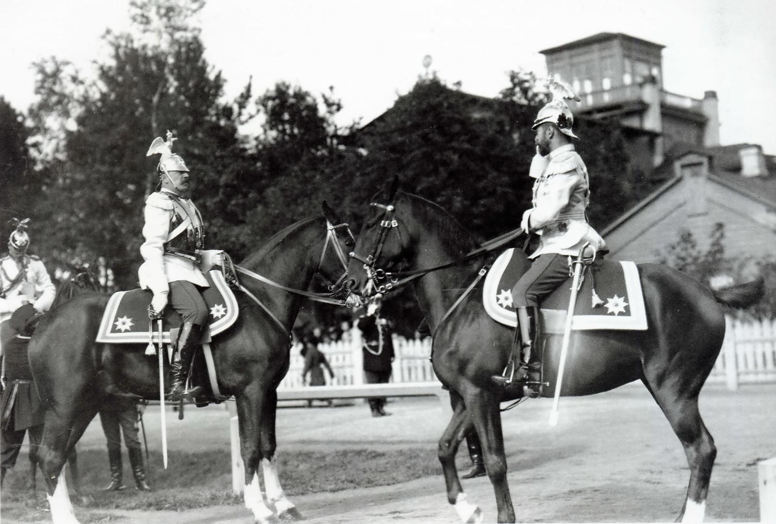1904. Николай II принимает парад в Петергофе