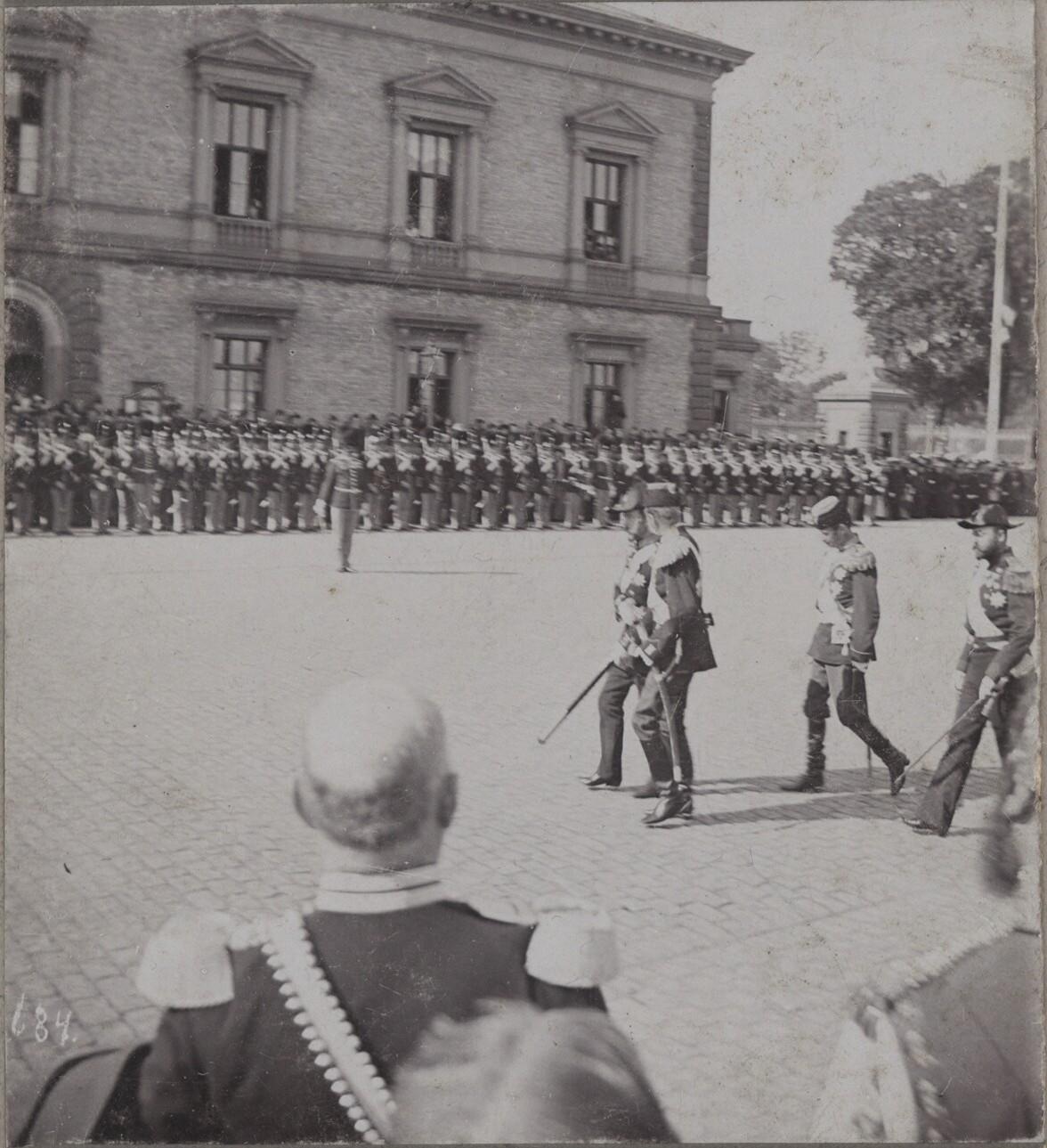 1896. Николай II,  Кристиан IX, наследный принц Фредерик и принц Вальдемар в Копенгагене