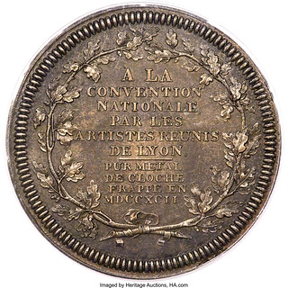 1792 French Republic National Convention Medal reverse
