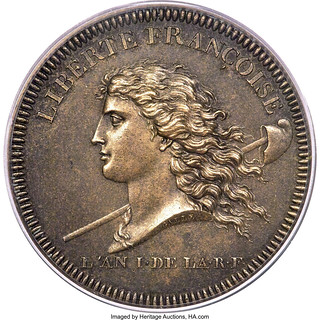 1792 French Republic National Convention Medal obverse