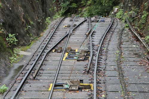 Single track transitions to triple rail double track for the upcoming crossing loop