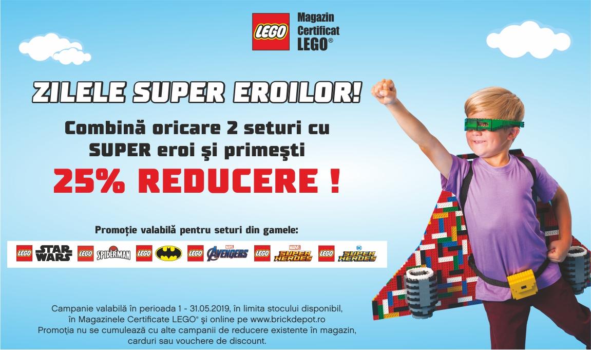 25% reducere la oricare 2 seturi LEGO® cu super eroi