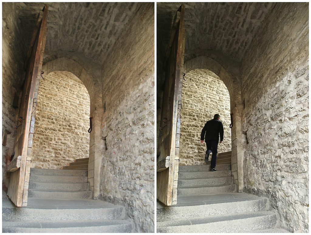 Do you think this man is running away from the ghosts? Short Leg Gate Tower, Tallinn