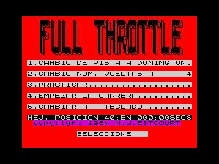 Full Throttle (ZX Spectrum, Ventamatic release)   by Deep Fried Brains